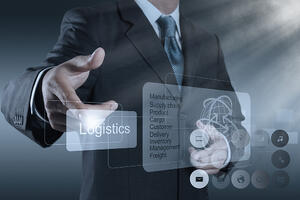 businessman hand shows logistics diagram as concept-1